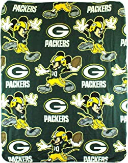 The Northwest Company NFL Green Bay Packers Mickey Mouse Character Fleece Throw, 40 x 50-inches