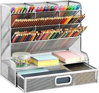 منظم مكتب شبكي ماربراس، حامل أقلام متعدد الوظائف، منظم أقلام للمكتب، منظم المكتبية، رف تخزين لللوازم الفنية المكتبية والمد...