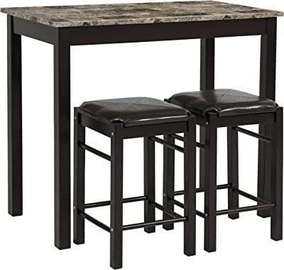 Amazon Com Ikea Table And 6 Chairs Brown Black