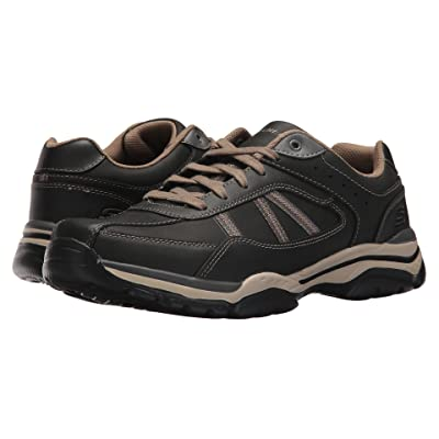 SKECHERS Relaxed Fit Rovato Texon (Black/Taupe) Men