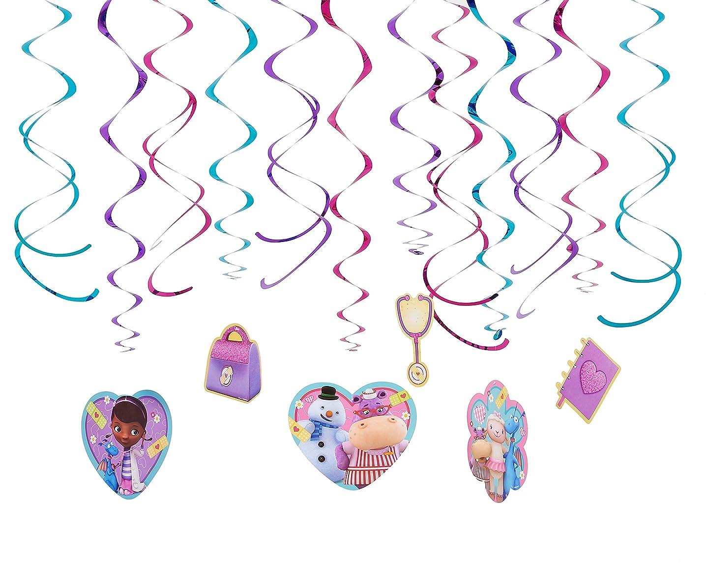 Foil Swirl Value Pack Decorations | Disney Doc McStuffins Collection | Party Accessory