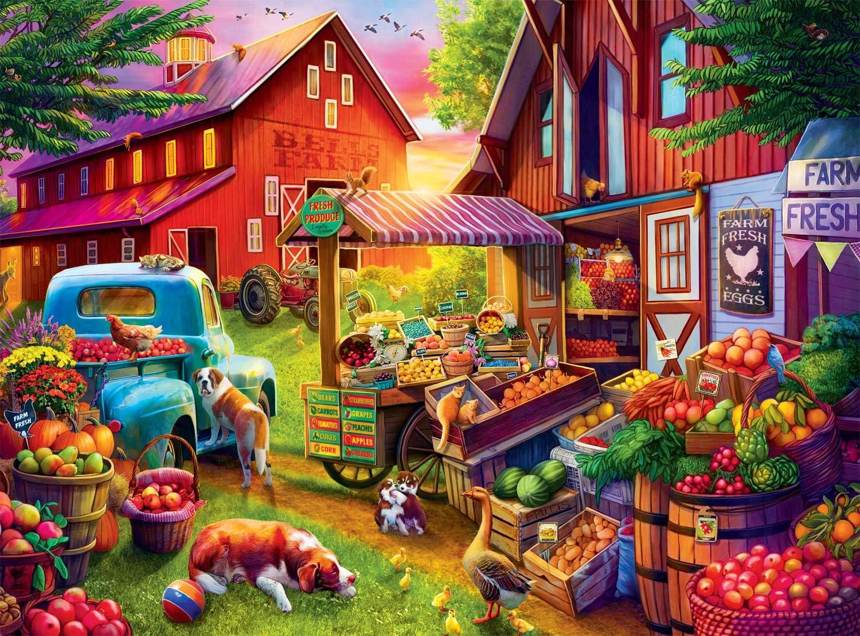 Buffalo Games - Bells Farm 1000 Charlotte Mall Jigsaw Puzzle Piece Kansas City Mall