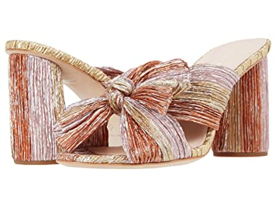 Loeffler Randall Penny Pleated Knot Mule (Gold/Pink/Ginger) Women