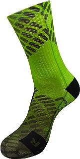 Dimensión de energía verde Active Athletic Calcetines con Diseño Motivo Hecho a Mano Calcetines de impresión 3D para Voleibol Tenis Fitness Ciclismo Balonmano Respirable Calcetines deportivos