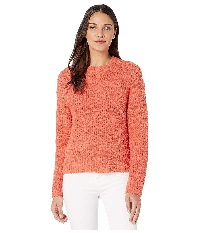1.STATE  Mock Neck Terry Yarn Sweater (Papaya) Womens Sweater