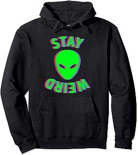 stay weird black hoodie