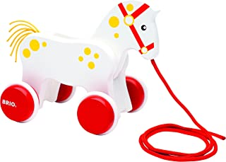 Brio 30216 Pull Along Horse Baby Toy - Multi Color