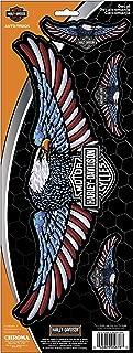 CHROMA 005678 Harley-Davidson Eagle Red/White/Blue Onz Decal