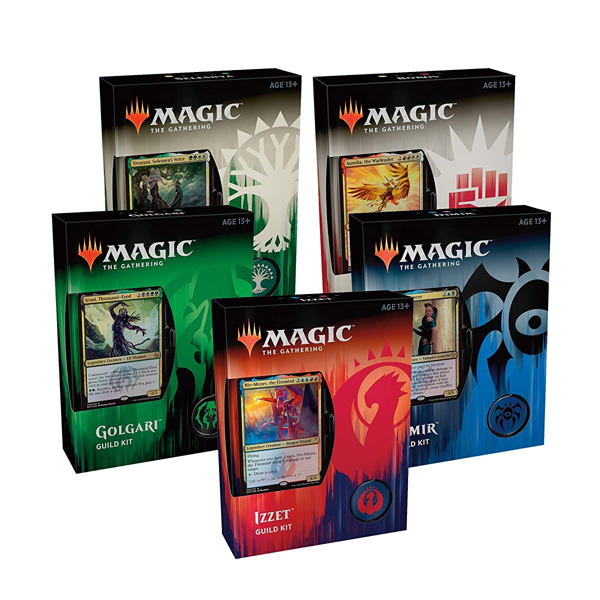 Magic: The Gathering Guilds of Ravnica Guild Kits   5 Ready-to-Play 60-Card Decks   Accessories   Factory Sealed