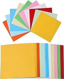 Origami, Papel Origami 100 hojas Doble Cara Papel para Papiroflexia de Colores para Niños Juguetes Decoración de Fiesta 15 cm