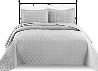 Luxe Bedding 3-piece Oversized Quilted Bedspread Coverlet Set, Silver Gray, Fits King or California King