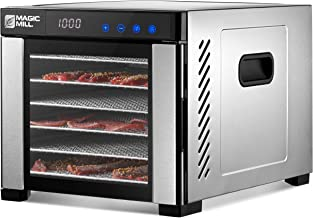 Magic Mill Commercial Food Dehydrator Machine   6 Stainless Steel Trays   Dryer for Jerky, Dog...
