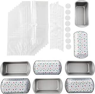 Wilton Bake and Bring Holiday Print Non-Stick Loaf Pans Gifting Kit, 10-Piece