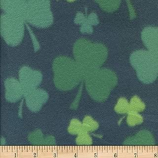Newcastle Fabrics Polar Fleece Shamrock Fabric, Green, Fabric By The Yard