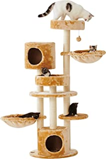 """Sopapets 56"""" Deluxe Multi-Level Cat Scratching Tree with Basket,Condo and Activity Center"""