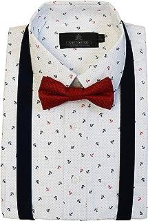 76f684e6fc14 Vittorino Boys' Dress Shirt with Matching Bowtie and Suspenders Set