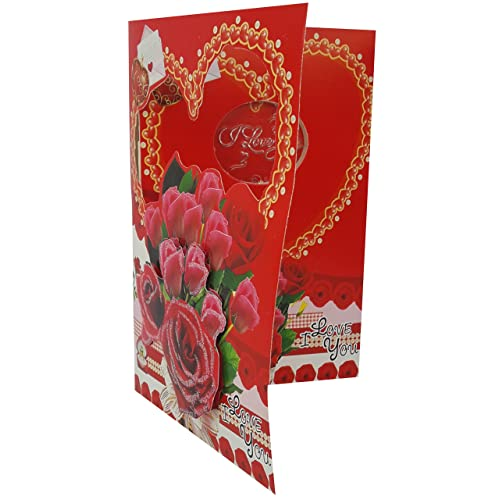 Urvi Creations Led Musicial Romantic Love Valentines Day Greeting Card
