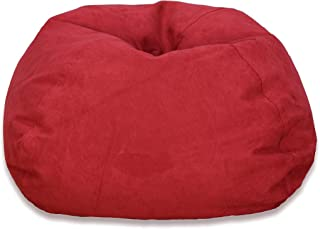 Michael Anthony Large Red Microsuede Bean Bag Chair