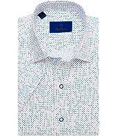 Mutli Color Dot Short Sleeve Sport Shirt