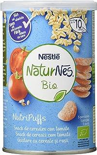 comprar comparacion Nestlé Naturnes Bio Nutri Puffs Snack De Cereales Con Tomate, A Partir De 10 Meses- Pack de 5 envases x 35g