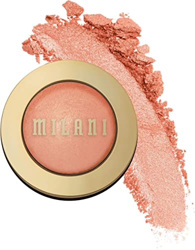 Milani Baked Blush - Luminoso (0.12 Ounce) Cruelty-Free Powder Blush - Shape, Contour & Highlight Face for a Shimmery...