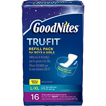 Goodnites Durable Underwear Refills Unisex Large/X-Large, 16-Count