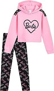 Barbie Chandal Niña, Ropa Niña de Algodon, Set de Sudadera con Capucha y Leggins Niña, Sudadera Niña Rosa, Regalos para Ni...