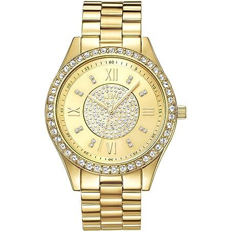JBW Women's J6303A Mondrian Diamond Watch Japanese Quartz Silver Watch with Pave Diamond Face