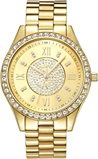 JBW Women's J6303A Mondrian Diamond Watch Japanese Quartz Silver Watch with Pave Diamond Face