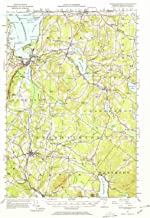YellowMaps Memphremagog VT topo map, 1:62500 Scale, 15 X 15 Minute, Historical, 1953, Updated 1971, 21.3 x 15.1 in