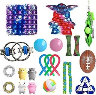 NUENUN 22 pcsSensory Fidget Toys Pack for Kids or Adults Figetget Toys Pack Hand Toys Stress Anxiety Relief Toys Set for A...