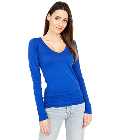 LAmade Fitted V-Neck Tee (Royal) Women