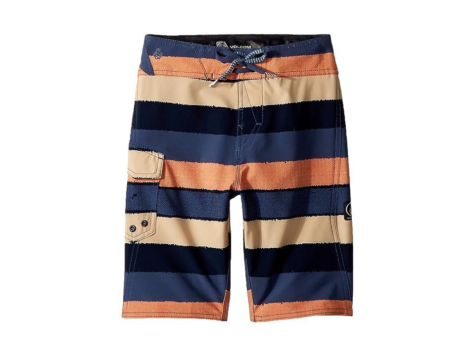 Volcom Kids Magnetic Liney Mod Boardshorts (Big Kids) (Sunburst) Boy