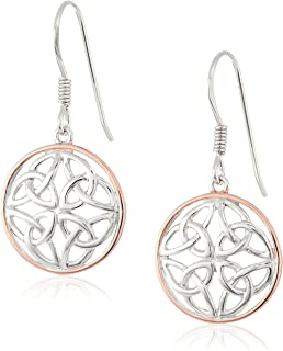 bfc8b3bfd Sterling Silver Celtic Knot Round Drop Wire Earrings