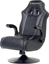 X Rocker 5128301 2.1 Wireless Bluetooth Audi Pedestal Video Gaming Chair, Black