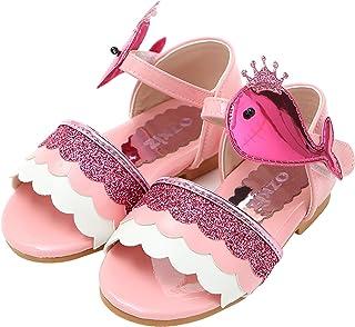 97e7ebcac Ozkiz Little Girls and Toddler Girls Flower Sandal Summer Flat Sandals  Anti-Slip