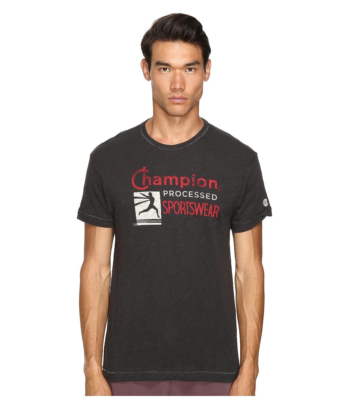 ジョガー付属品モーテル[トッドスナイダー + チャンピオン] Todd Snyder + Champion メンズ Champion Processed Sportswear T-Shirt トップス Faded Black XL [並行輸入品]