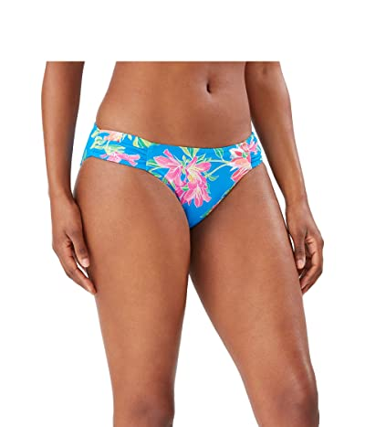 Tommy Bahama Sun Lilies Reversible Shirred Hipster (Azure Blue) Women