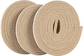 SoftTouch 1/2 x 60 tiras de feltro resistentes autoadesivas com verso adesivo, 1,27 cm x 152,4 cm, 3 unidades, bege, 3 uni...