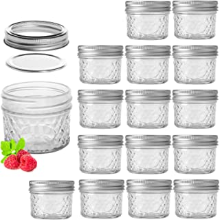 4 oz 16 PACK Regular Mouth Mini Mason Jars with Lids and Bands
