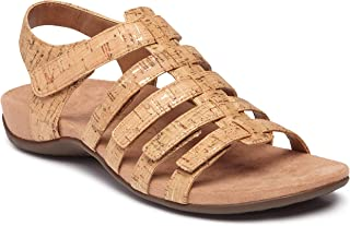 Vionic Women's Rest Harissa Backstrap Fisherman Walking Sandals - Adjustable Gladiator Sandal with Concealed Orthotic Arch Support