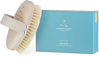 Revive Body Brush – 100% Natural Vegan Agave Sisal Bristles for Dry Skin Brushing – Exfoliate Dead Skin, Detox, Reduce Cellulite, Stimulate Circulation and Lymphatic Drainage, Brighten and Firm Skin