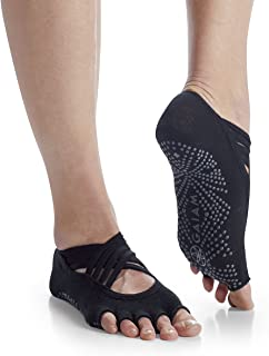 Gaiam Yoga Socks - Premium Studio Non Slip Sticky Grip Accessories for Women & Men