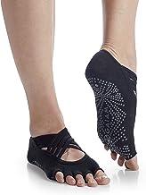 Gaiam Yoga Socks - Premium Studio Non Slip Sticky Grip Accessories for Women & Men