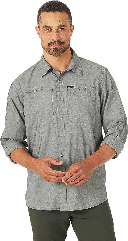 ATG by Wrangler Men's Long Sleeve Hike to Fish Shirt