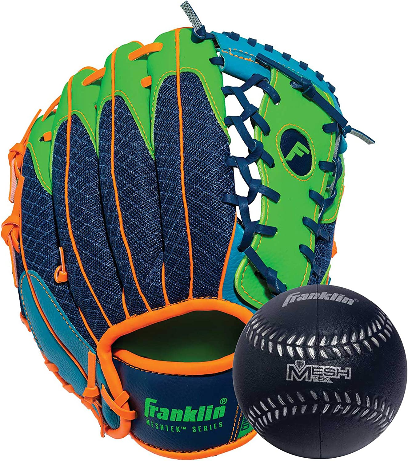 Franklin Sports Teeball Glove and - Set Ball Our shop Max 57% OFF OFFers the best service Glo Meshtek