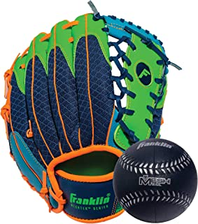 Franklin Sports Teeball Glove and Ball Set - Meshtek Teeball Glove and Foam Baseball - 9.5