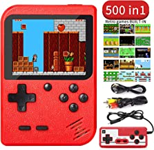 Handheld Game Console, Retro Game Player with 500 Classic FC Games, 3.0 Inch Screen Video Games Console Support for Connec...
