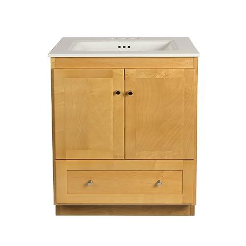 Wood Bathroom Vanity Amazon Com