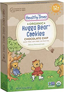 Healthy Times Organic Hugga Bear Cookies for Kids, Chocolate Chip | For Toddlers, 12 Months and Older | 6.5 Oz. Box, 1 Count